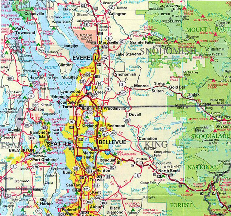 Western Washington Area Maps Courtesy Of Beryl Gosney Of Preview