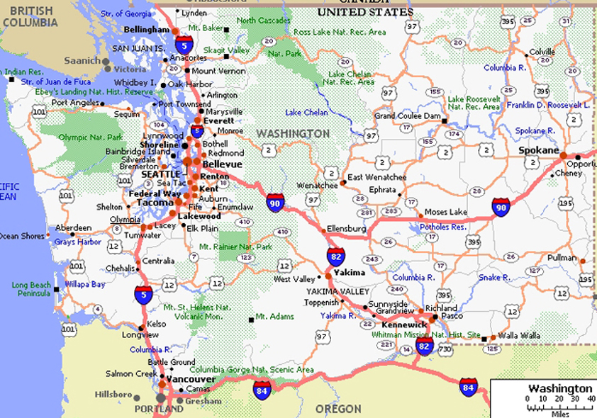 Western Washington Area Maps - courtesy of Beryl Gosney of Preview ...